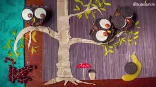 Cupcakes en forma de tecolotes