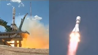 A Soyuz-2.1a rocket, with a Fregat upper stage, launched the Kanopus-V-IK remote sensing satellite and 72 cubesats from the Baikonur Cosmodrome in Kazakhstan, on 14 July 2017, at 06:36 UTC (12:36 local time).Credit: RoscosmosСоюз-2.1а / Канопус-В-ИК