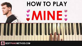 Video HOW TO PLAY - Bazzi - Mine (Piano Tutorial Lesson) MP3, 3GP, MP4, WEBM, AVI, FLV Juni 2018