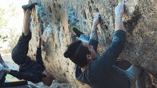 Projecting V6 Pumpernickel at Horse Flats with the crew by  rockentry