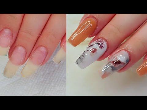 Nail Art Desings Natural Acrylic Nails of 7 months/Uñas Acrilicas Naturales de 7 meses