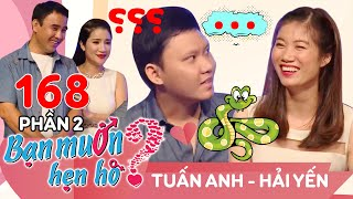 Video Quyen laughed at the chair with the big guy afraid of snakes Tuan Anh - Hai Yen | BMHH 168 😁 MP3, 3GP, MP4, WEBM, AVI, FLV September 2019