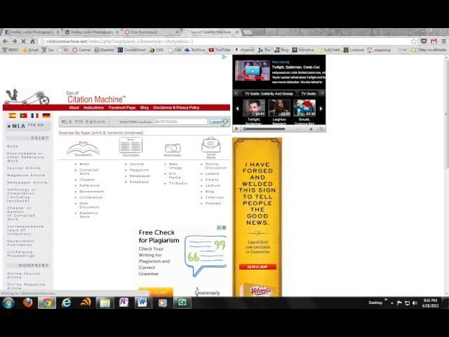 apa style generator for websites