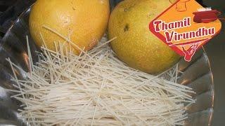 Mango, Vermicelli, Milkmaid Dessert In Tamil ( English Text ) - Semia Payasam Recipe