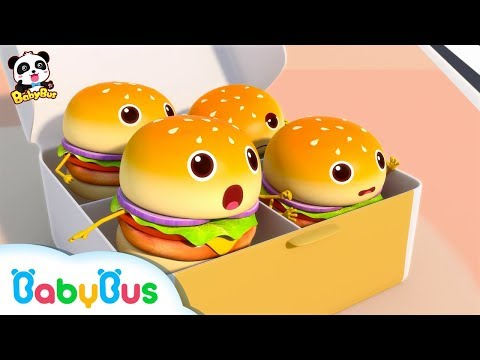 Hamburgers Fell down From Truck | Ice Cream | Learn Colors | Nursery Rhymes | Baby Songs | BabyBus