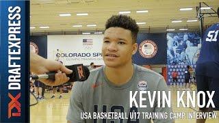 Kevin Knox USA Basketball U17 Training Camp Interview