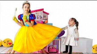 SARAH e a irmã dela QUEREM O MESMO VESTIDO e MAQUIAGEM de princesa