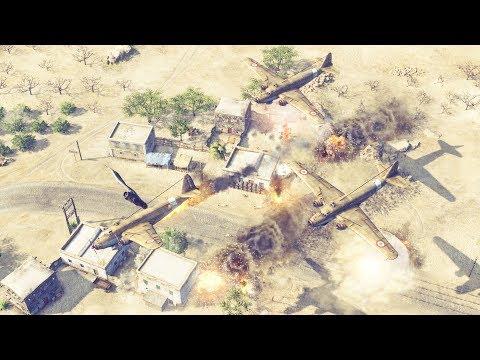 1940 Afrika Korps Campaign & Italian Units Advance | Sudden Strike 4 Desert War Gameplay