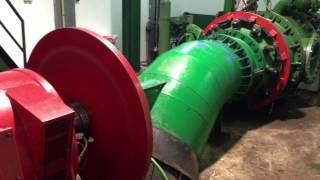 Hydroelectric turbine 500 KW.