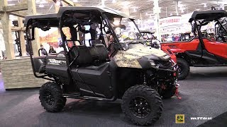 10. 2019 Honda Pioneer 700-4 Deluxe Camo Utility ATV - Walkaround - 2018 Toronto ATV Show