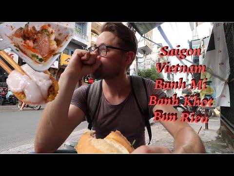 LOCAL FOOD Tour! HO CHI MINH CITY, Vietnam: Banh Mi, BANH KHOT, Bun Rieu, and more! - Thời lượng: 28 phút.