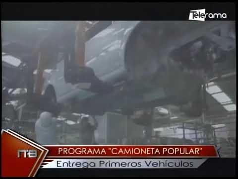 Programa Camioneta Popular entrega primeros vehículos