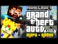 GTA 5 Y SAN ANDREAS EN MINECRAFT PE 1.0.3 - DESCARGA ADDON Y MAPA! - ADDONS Y MAPAS POCKET EDITION