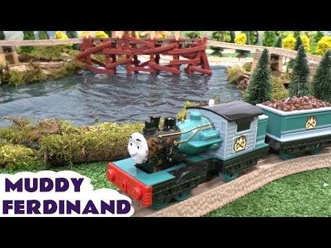 thomas - Thomas and Friends Muddy Ferdinand. This is the Trackmaster Muddy Ferdinand on our Misty Island Set with the Logging Station, Shake Shake Bridge and of course Ol' Wheezy the crane. We also...