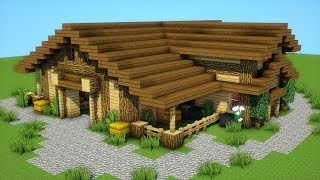 Minecraft: How to build a farm house/stables/mansion - Tutorial (2019)