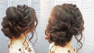 свадебные прически на длинные волосы с косичками