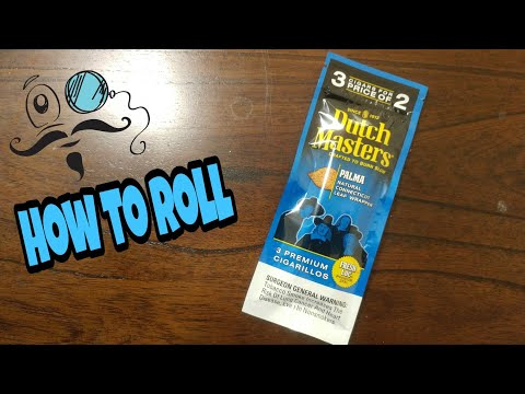 How to roll Dutch Master palma