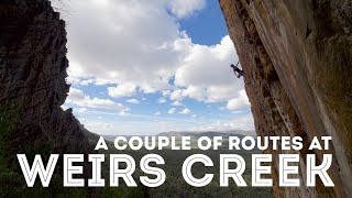 A couple of routes at Weir's Creek by Jackson Climbs