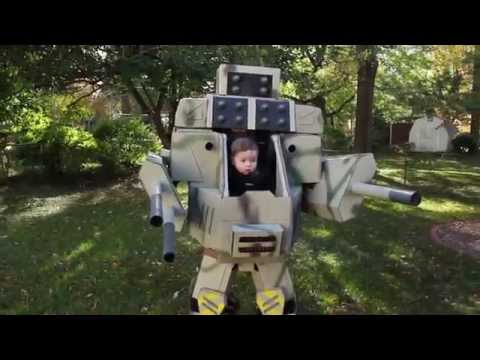 Mech Suit Costume That A Dad Makes For His Son