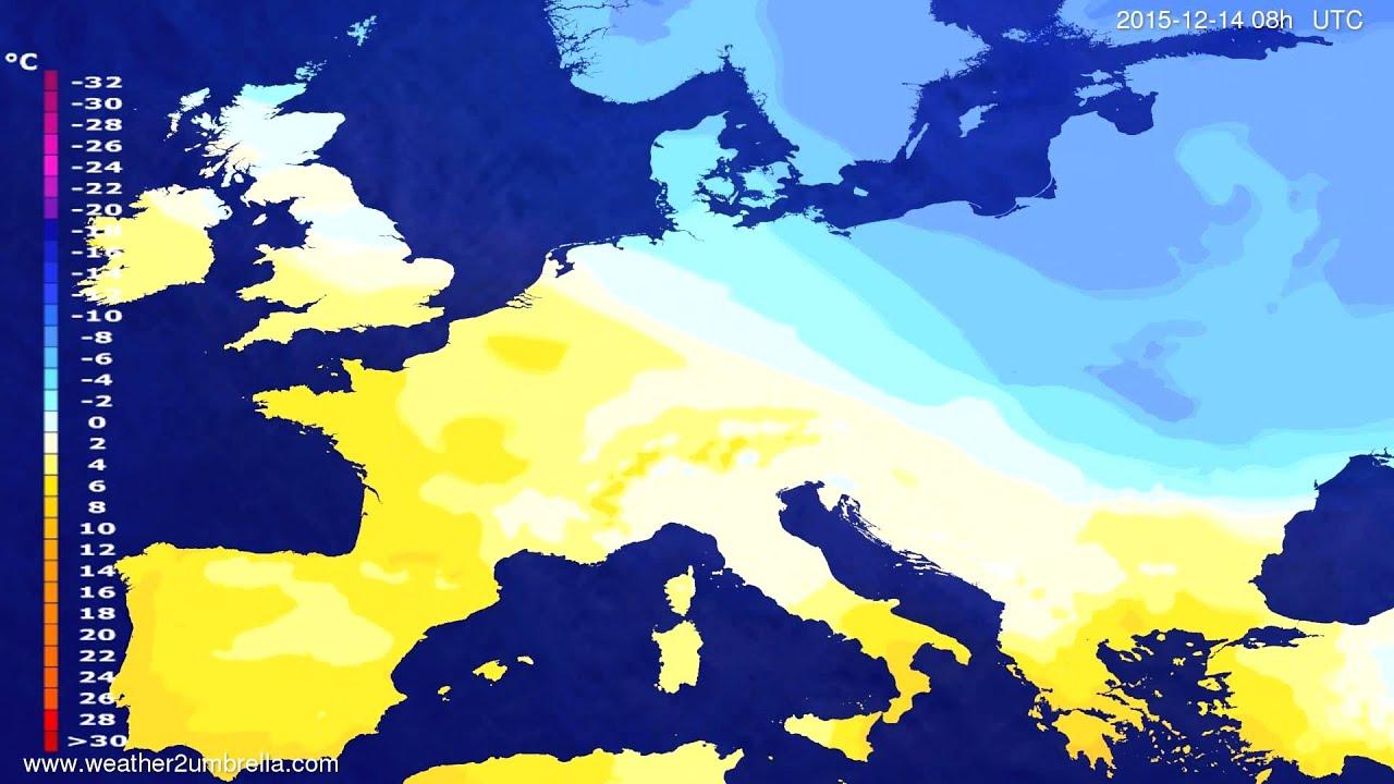 Temperature forecast Europe 2015-12-11