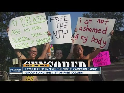 "Lawsuit filed by ""free the nipple"" campaign group"