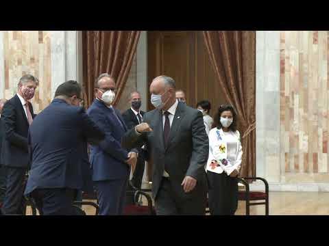 Președintele Republicii Moldova a avut o întrevedere cu șefii misiunilor diplomatice