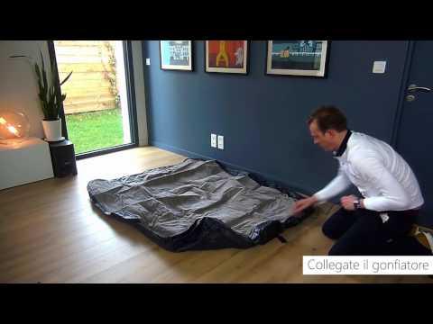 Materasso gonfiabile elettrico 2 piazze Intex Rest Bed Deluxe Fiber Tech - 64136