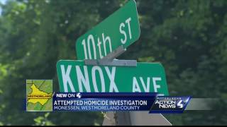 Attempted homicide investigation in MonessenSubscribe to WTAE on YouTube now for more: http://bit.ly/1emyOjPGet more Pittsburgh news: http://www.wtae.com/Like us: http://www.facebook.com/wtae4Follow us: http://twitter.com/WTAEGoogle+: http://plus.google.com/+wtae