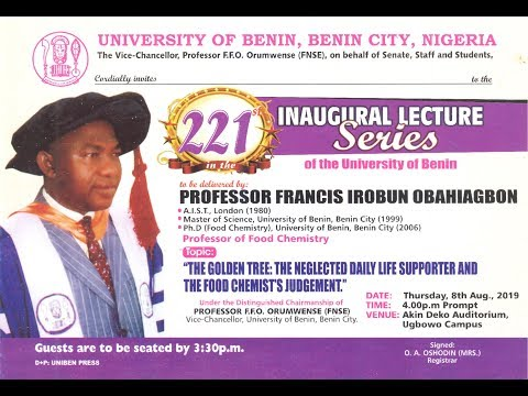 Watch The 221st Inaugural Lecture Live