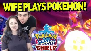 My WIFE battles LEON in Pokemon Sword and Shield! by aDrive