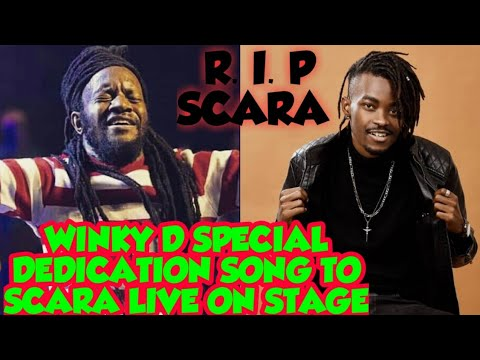 Winky d Special Dedication Song to scara the drummer Live on Stage  (Touching Song 2020)