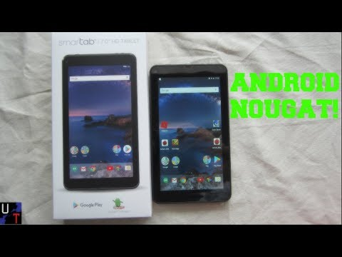 """Walmart's SmarTab 7"""" Android 7.1 Quad-core 16GB Tablet Unboxing & 1st Impressions!"""