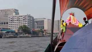2013 Bangkok Chao Phraya River Longtail Boat Tour Thailand