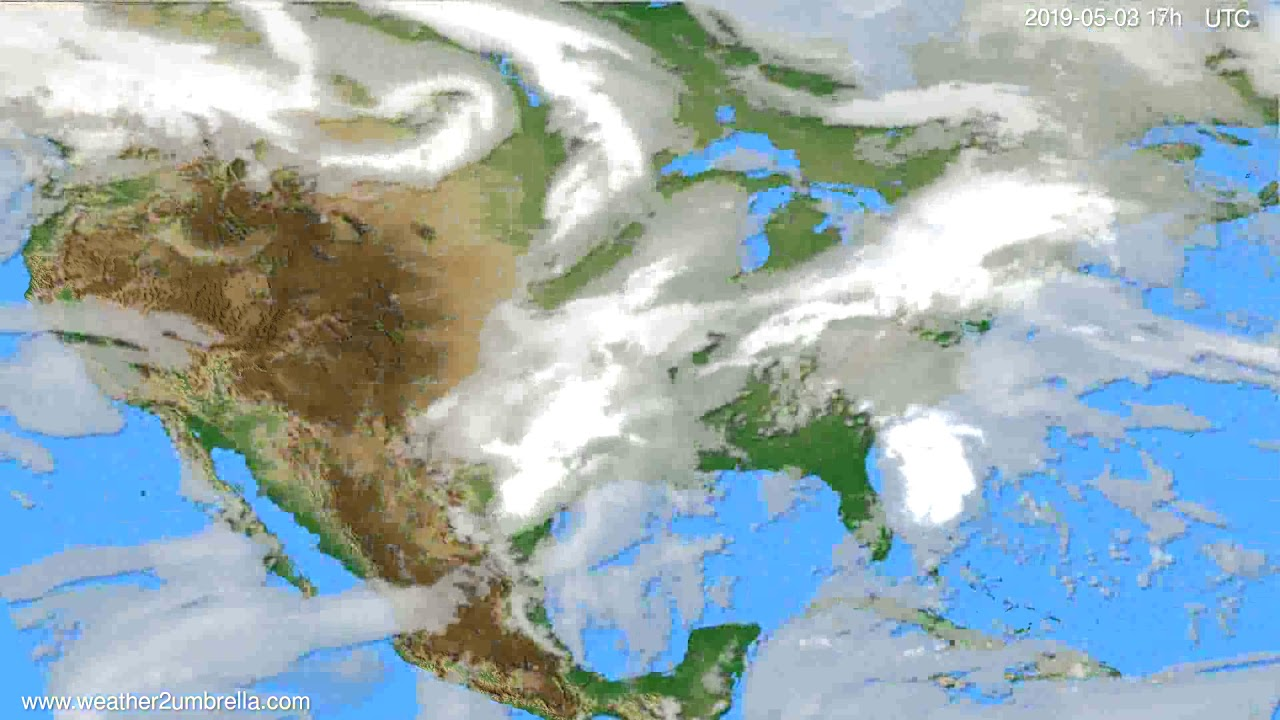 Cloud forecast USA & Canada // modelrun: 00h UTC 2019-05-02