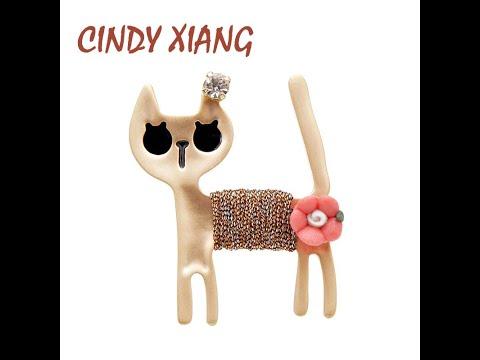 Синди сян (сочетание ароматов риса милый сплав броши кошки для женщин и … видео