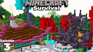 Minecraft 1.16 Survival : Ep 3 : The NETHERITE TOOL FORGE : Let's Play