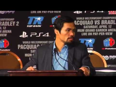 MANNY PACQUIAO POST FIGHT INTERVIEW AFTER HIS WIN OVER TIMOTHY BRADLEY