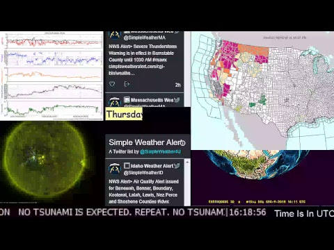 News Earthquakes Space Weather Storm Warnings Tornado Watches Wild Fire Volcano Solar Wind_A héten feltöltött legjobb nap videók