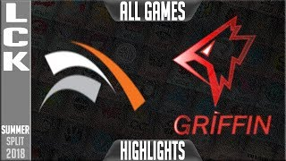 Video HLE vs GRF Highlights ALL GAMES | LCK Summer 2018 Week 5 Day 3 | Hanwha Life vs Griffin Series MP3, 3GP, MP4, WEBM, AVI, FLV Juli 2018