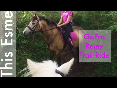 Rainy trail ride | GoPro | This Esme + Scarlette