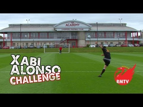 Liverpool - Filmed on the 7 year anniversary of Xabi's Newcastle strike, this month's Xabi Challenge comes to you from the Liverpool FC Academy where the next crop of LF...