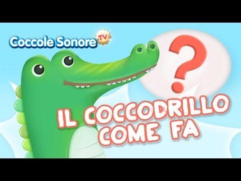 La canzone del coccodrillo con cartone animato, cartone completo coccodrillo come fa.