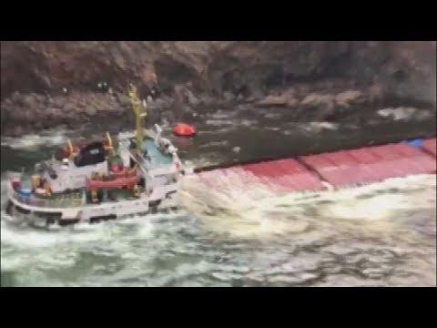 Διασώθηκε το πλήρωμα φορτηγού πλοίου που προσάραξε κοντά στη Μύκονο