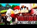 KILLING SKYWARS YOUTUBERS (Skywars YouTuber Event)