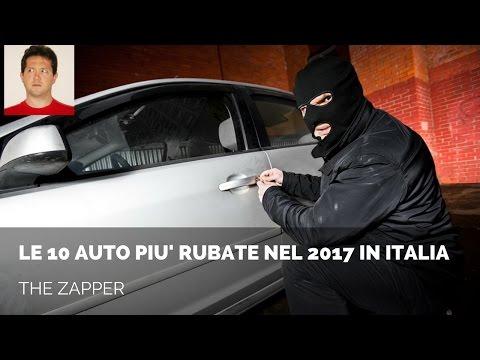 le 10 auto più rubate nel 2017 in italia!
