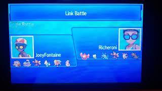 Pokemon Ultra sun And Moon Wi-Fi battle vs Richie(UU)