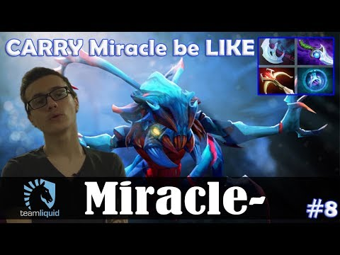 Miracle - Weaver Safelane | CARRY Miracle Be LIKE | Dota 2 Pro MMR Gameplay #8