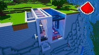 Minecraft - Cliff Side Modern Redstone House