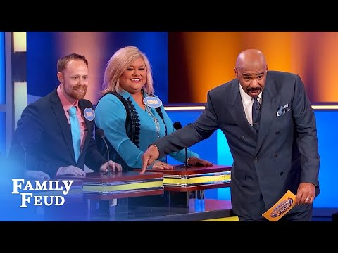 My wife showed me how to do this right! | Family Feud