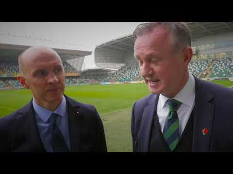 Michael O'Neill and Paddy Tally IFA and GAA schools coaching